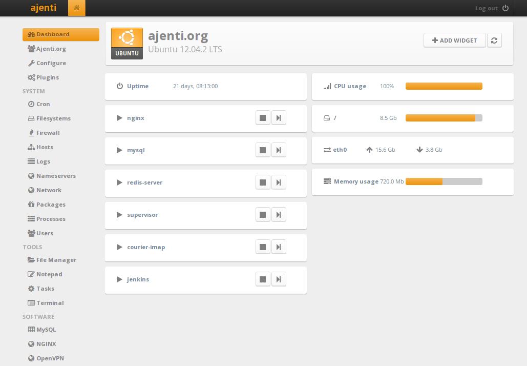 Ubuntu Web Hosting Panel